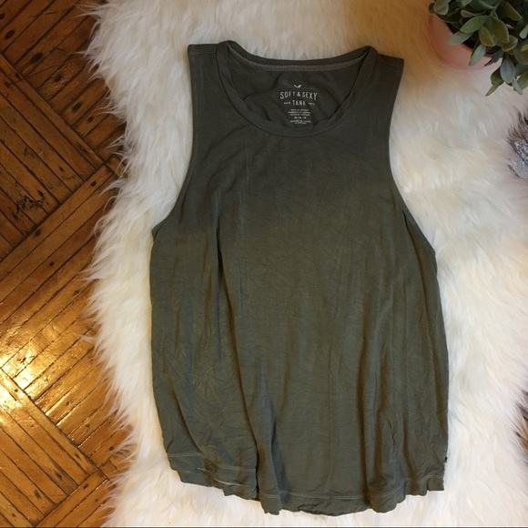 d54bf148e83a6 American Eagle Outfitters Tops - American Eagle Soft   Sexy Olive Green Tank  Top